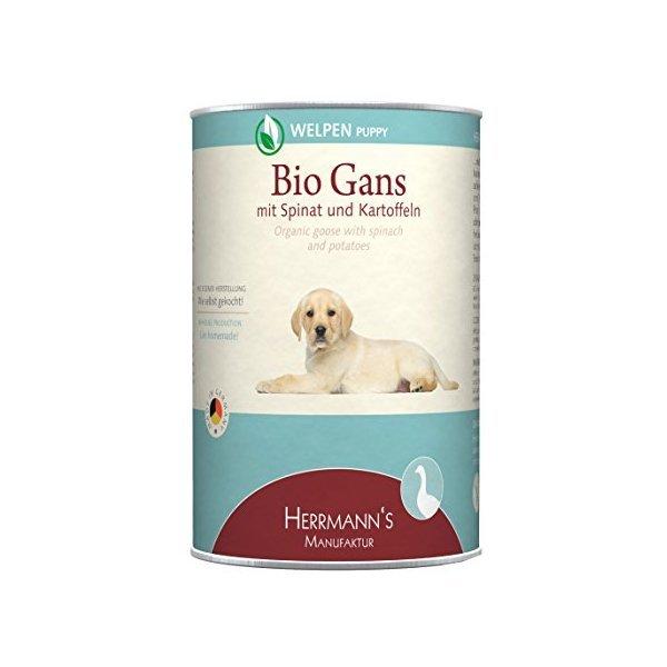 online store c9848 729a5 Bio-Gans mit Spinat und Kartoffeln Hunde-Nassfutter (6 x 400 g)
