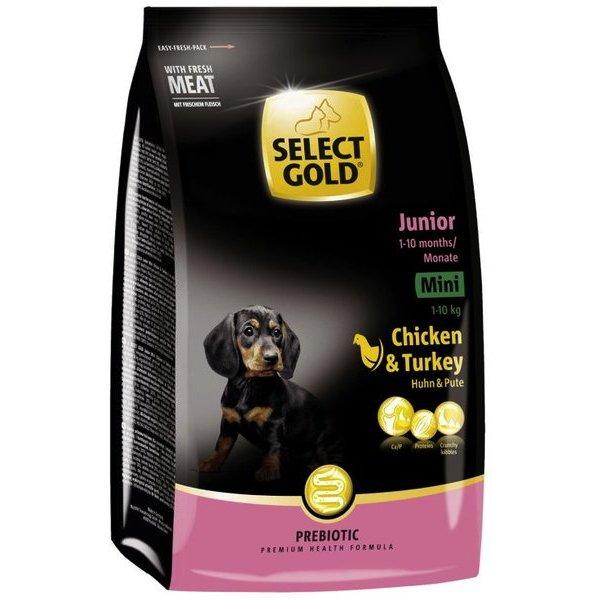 select gold junior mini huhn pute trockenfutter hund g nstig im preisvergleich petadilly. Black Bedroom Furniture Sets. Home Design Ideas