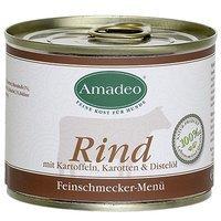 Amadeo Rind mit Kartoffeln, Karotten und Distelöl