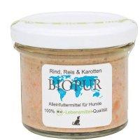 BIOPUR Adult Rind, Reis, Karotten im Glas