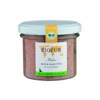 BIOPUR Welpen Geflügel, Reis, Karotten im Glas