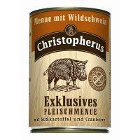 Christopherus Menue mit Wildschwein mit Süsskartoffel und Cranberry