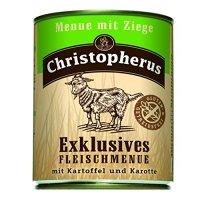 Christopherus Menue mit Ziege mit Kartoffeln & Karotte