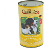 Classic Dog Adult Brocken in Soße mit Huhn