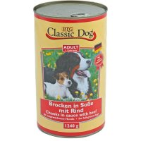 Classic Dog Adult Brocken in Soße mit Rind