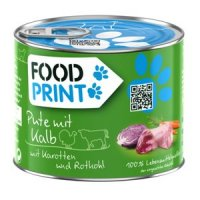 Fressnapf FoodPrint Pute mit Kalb mit Karotten und Rotkohl