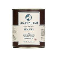 Grafenland Bio-Lachs mit Kokos-Sauerkraut, Frischen Äpfeln und Leinsaat