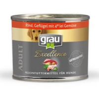 Grau Excellence ADULT Rind, Geflügel mit 4er-lei Gemüse