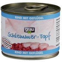 Grau Schlemmer-Topf Rind mit Geflügel
