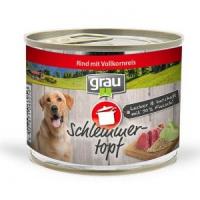 Grau Schlemmer-Topf - Rind mit Vollkornreis