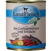 LandFleisch Pur Geflügel & Lachsfilet mit Biogemüse