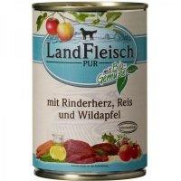 LandFleisch Pur Rinderherz, Reis & Wildapfel mit Biogemüse