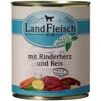 LandFleisch Pur Rinderherzen & Reis mit Biogemüse
