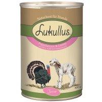 Lukullus Junior Putenherzen & Lamm mit Hirse, Apfel und Traubenkernöl