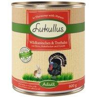 Lukullus Wildkaninchen & Truthahn mit Birne, Haferflocken und Schwarzkümmelöl
