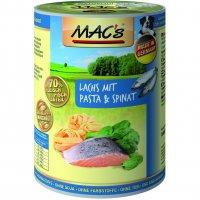 MACs Lachs mit Pasta & Spinat
