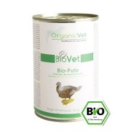 OrganicVet BIOVET Bio-Pute mit Bio-Reis, Bio-Karotte & Bio-Apfel
