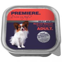 Premiere Best Meat Adult Rind mit Wachtel Nassfutter
