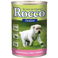 Rocco Junior Hühnerherzen, Reis & Kalzium
