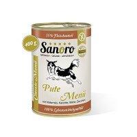 Sanoro Pute Menü mit Naturreis, Karotten, Birnen und Zucchini