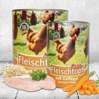 Schecker DOGREFORM Fleischtopf-Menü mit Geflügel, Gemüse & Reis