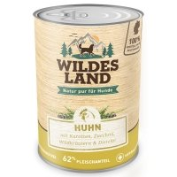 Wildes Land Huhn mit Karotten, Zucchini, Wildkräutern und Distelöl