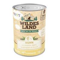 Wildes Land Puppy Huhn mit Karotte, Apfel und Wildkräutern