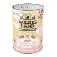 Wildes Land Puppy Rind mit Süßkartoffel, Apfel und Wildkräutern