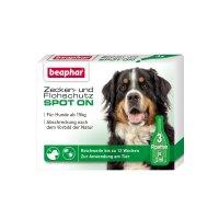 beaphar bio spot on tropfen f r hunde ber 15 kg pflege hund g nstig im preisvergleich petadilly. Black Bedroom Furniture Sets. Home Design Ideas