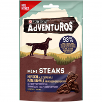 Purina Adventuros Mini Steaks mit Hirsch