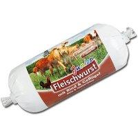 Schecker DOGREFORM Junior Fleischwurst mit Rind & Geflügel, Reis & Hüttenkäse