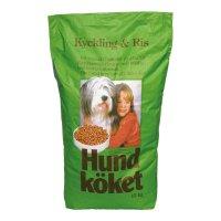 Hundköket Geflügel und Reis