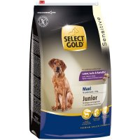 select gold sensitive junior maxi lamm lachs kartoffeln trockenfutter hund g nstig im. Black Bedroom Furniture Sets. Home Design Ideas