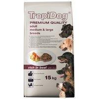 TropiDog Premium Adult Medium & Large Breeds - with Beef & Rice