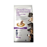 TropiDog Premium Adult Medium & Large Breeds - with Lamb & Rice